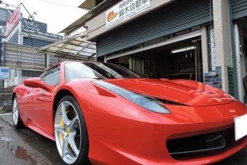 Ferrari 458 Spider リアタイヤ 交換!!